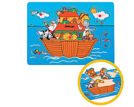 THE TOY WORKSHOP - Noah's Ark Pull Out Puzzle