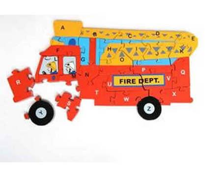 THE TOY WORKSHOP - Fire Engine Jigsaw  MOD-0380