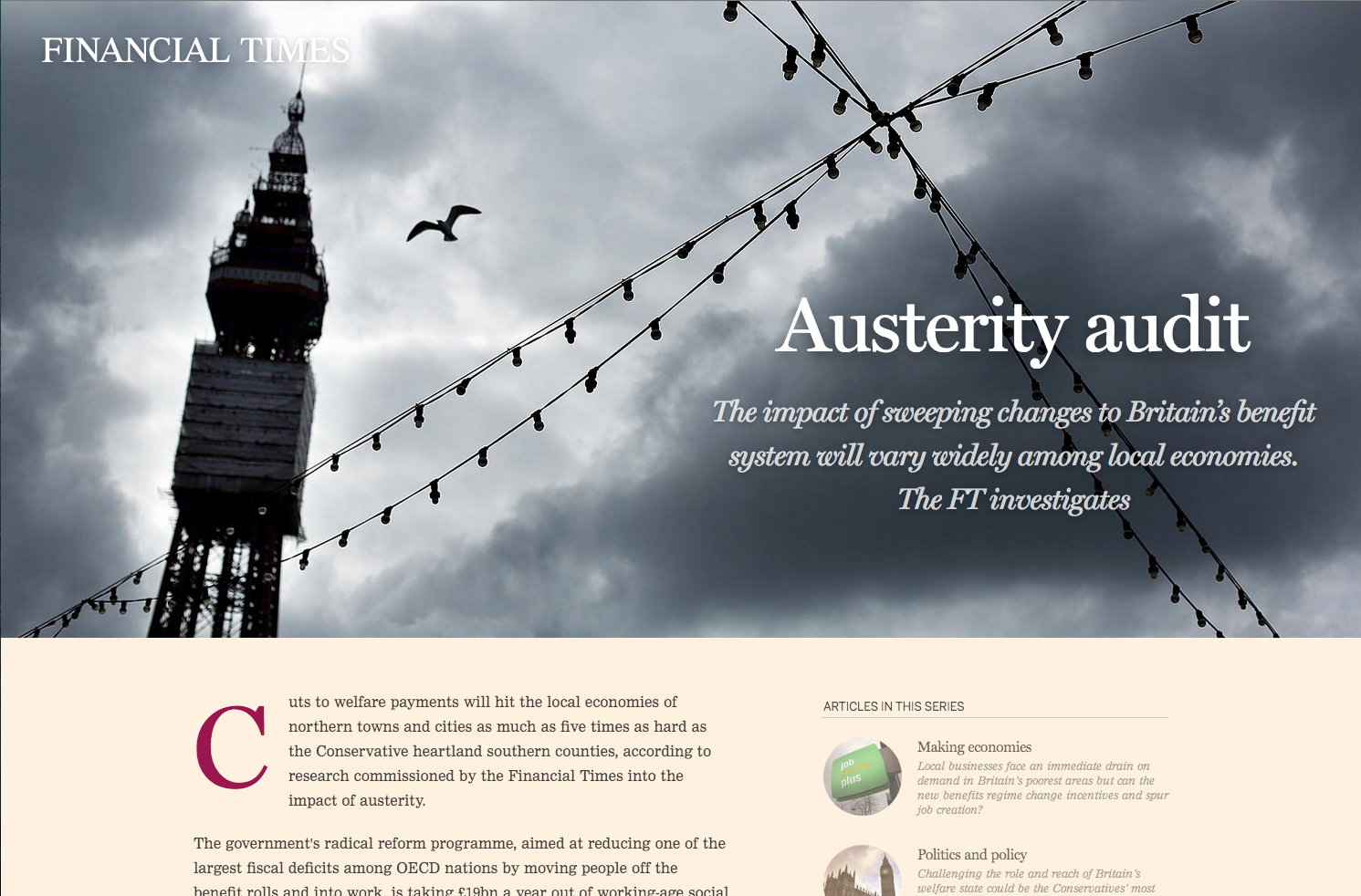 Screenshot of Austerity Audit article