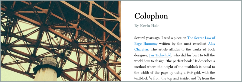 Rounded by Gravity: Colophon