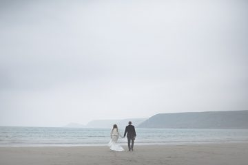 boho cornwall elopement wedding by ashley hampson