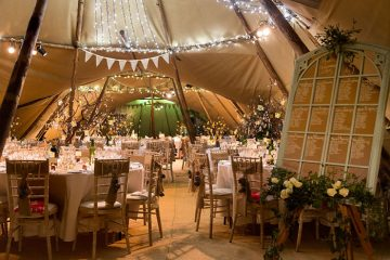 world inspired tents christmas wedding in devon