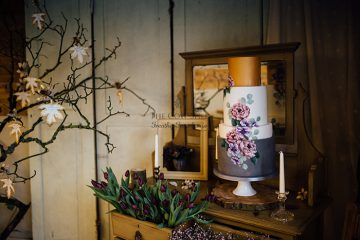cosy winter wedding shoot at cornwall wedding venue the cow shed
