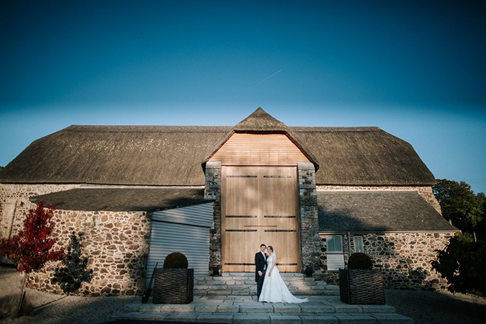 devon wedding at the great barn