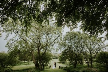 bride and groom at ta mill wedding in cornwall, image by dan ward