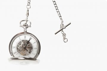 WIN: a silver pocket watch for your groom