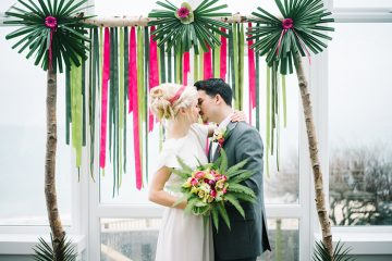 tropical wedding in st ives