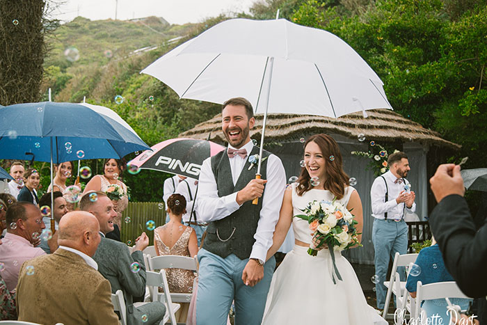 Katrina and Darren's Polhawn Fort Wedding {images by Charlotte Dart}