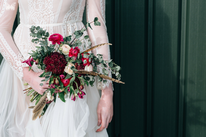 Feathers and pine: bridal inspiration from The Prop Factory