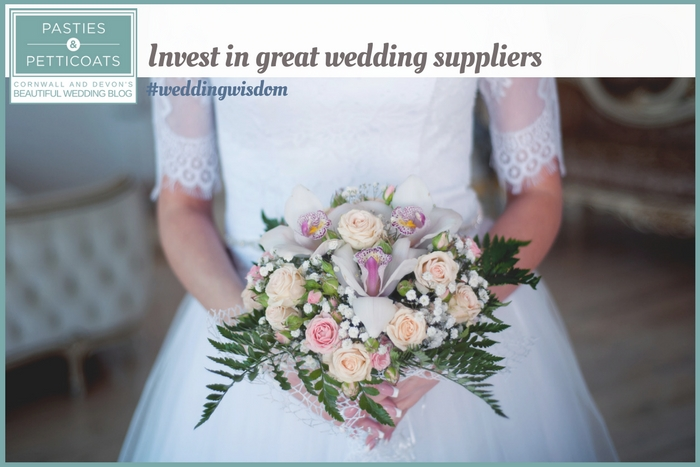 why you should invest in great wedding suppliers - cornwall and devon wedding inspiration blog