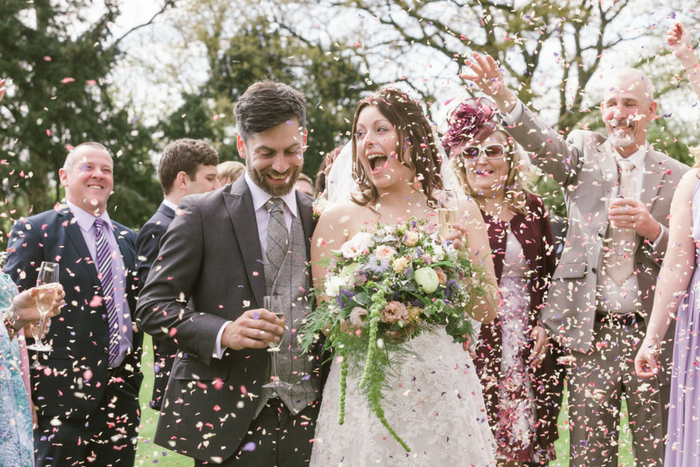 easter wedding in devon