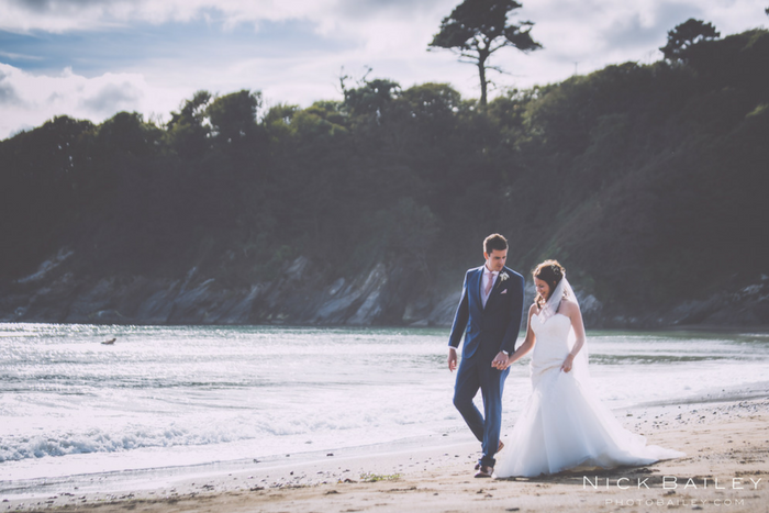 Harriet and Tom's Caerhays Castle Wedding {images by Nick Bailey}