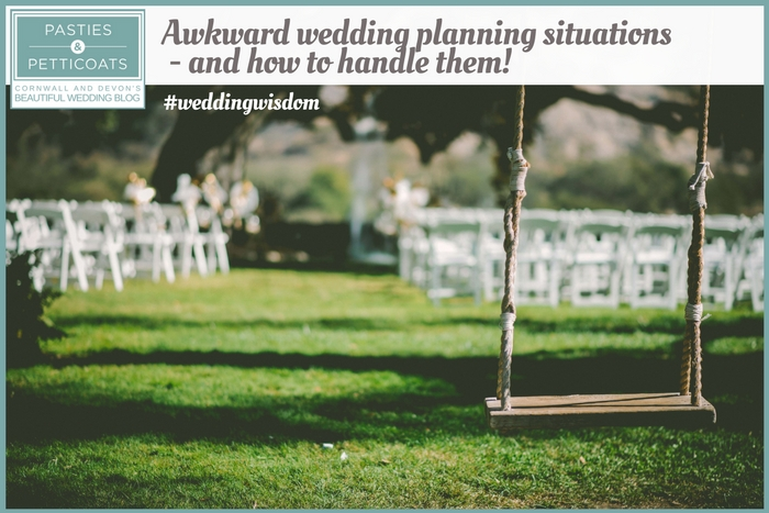 awkward wedding planning situation