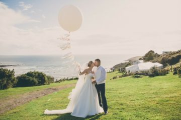 marquee wedding by the sea in devon