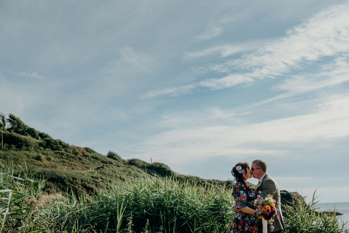 Chel and Stephen's beach handfasting {images by Clare Kinchin}