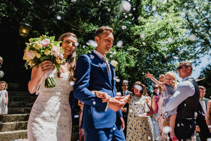 Andrew and Becky's Restronguet Barton wedding {images by Stewart Girvan}