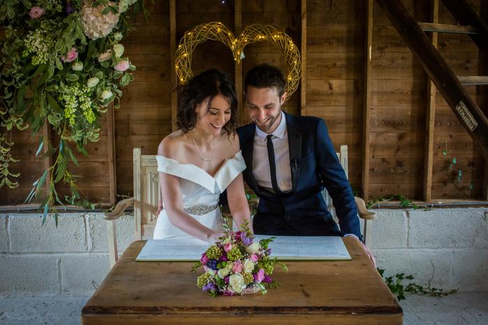 Fran and Ryan's Freathy Farmhouse wedding