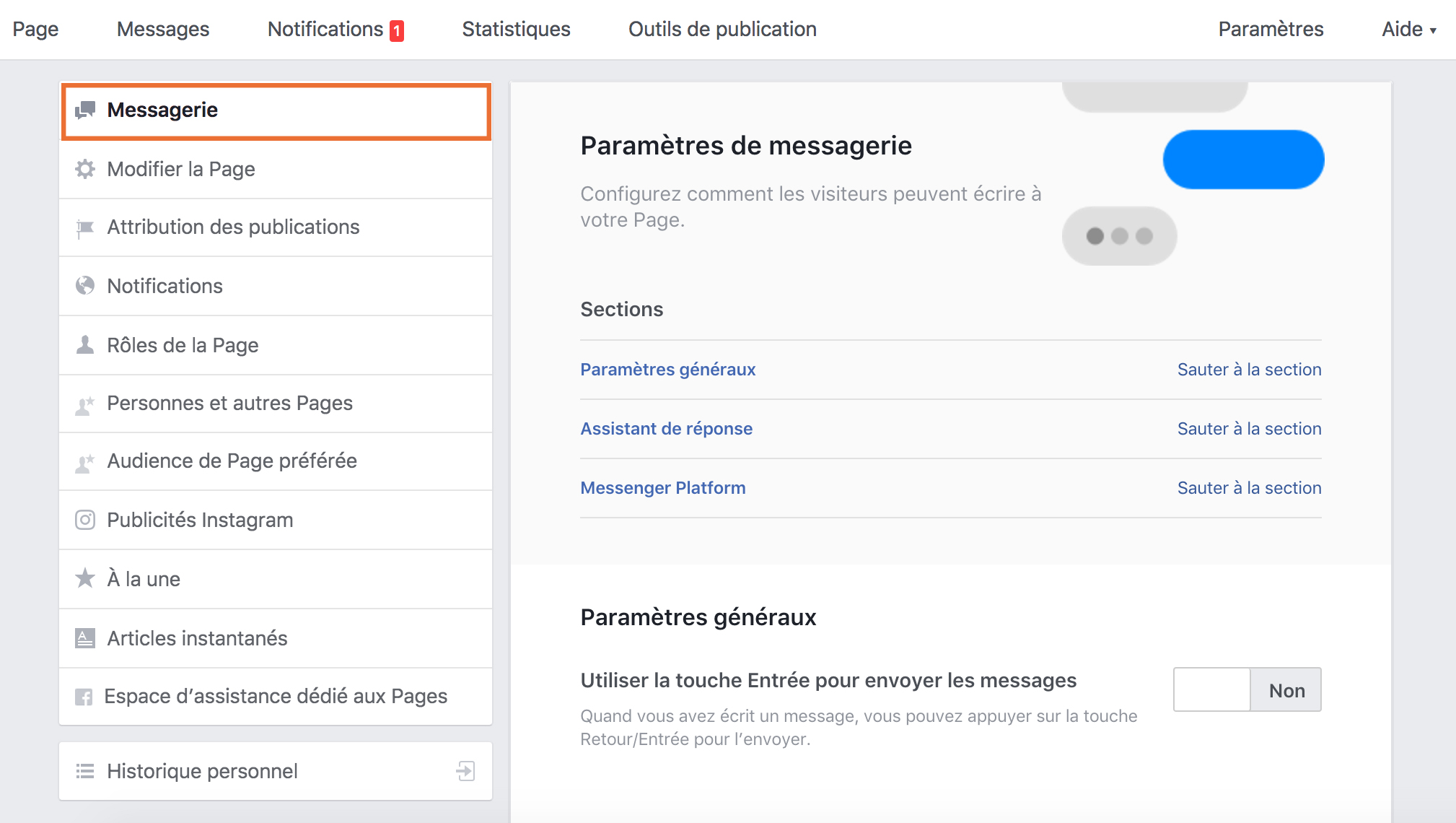 message-automatique-bienvenu-pmessenger-page-facebook-guide-social-media-pro