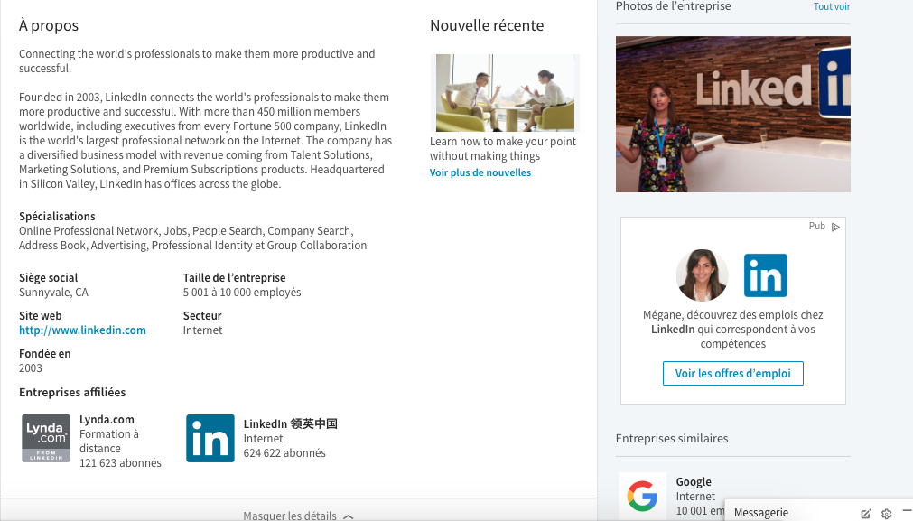 Section A Propos - LinkedIn - SMP