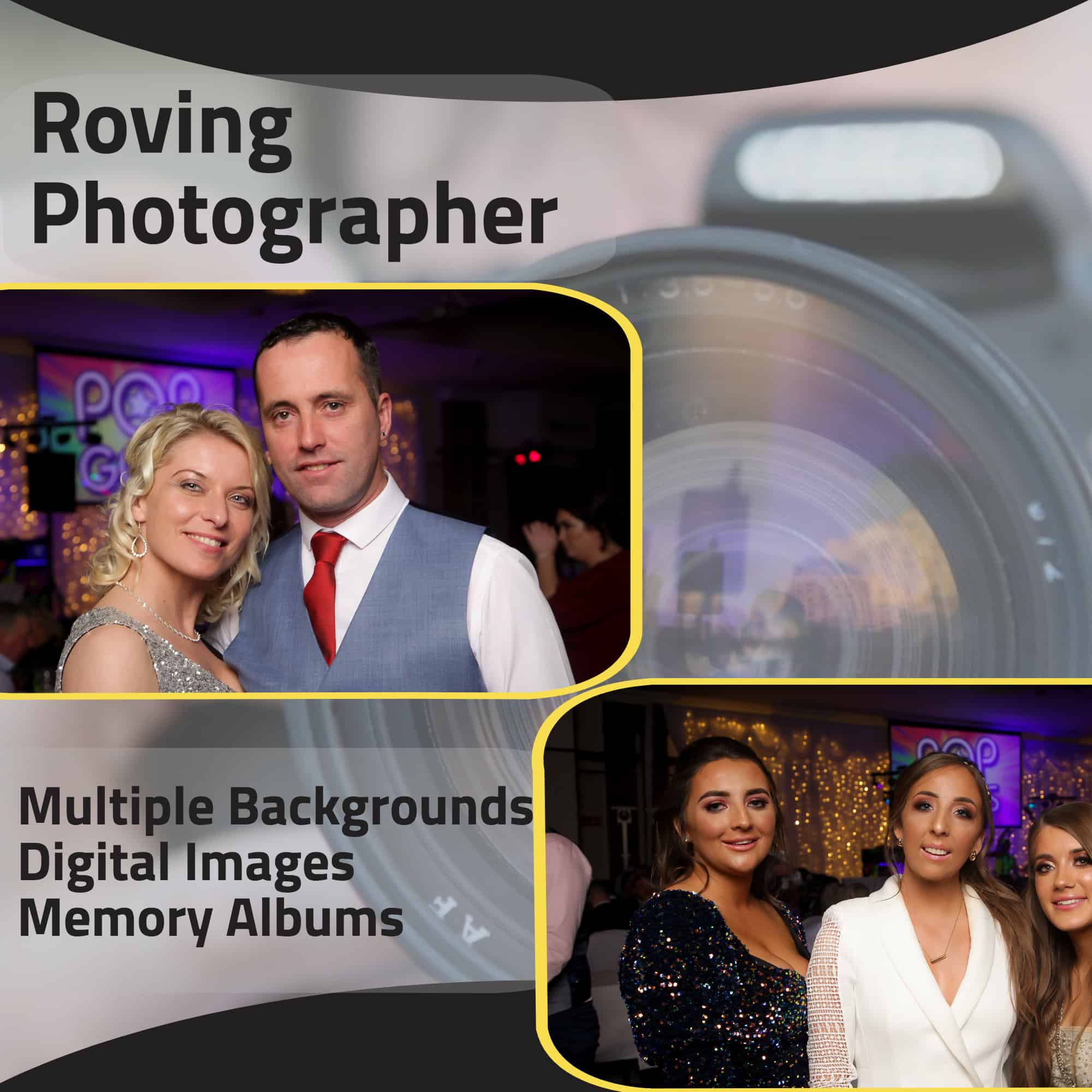 Roving Photographer at your event with instant printing