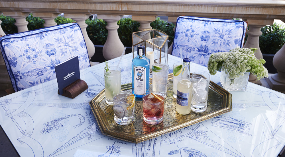 BOMBAY SAPPHIRES ULTIMATE GIN & TONIC TERRACE AT ROSEWOOD LONDON COCKTAILS