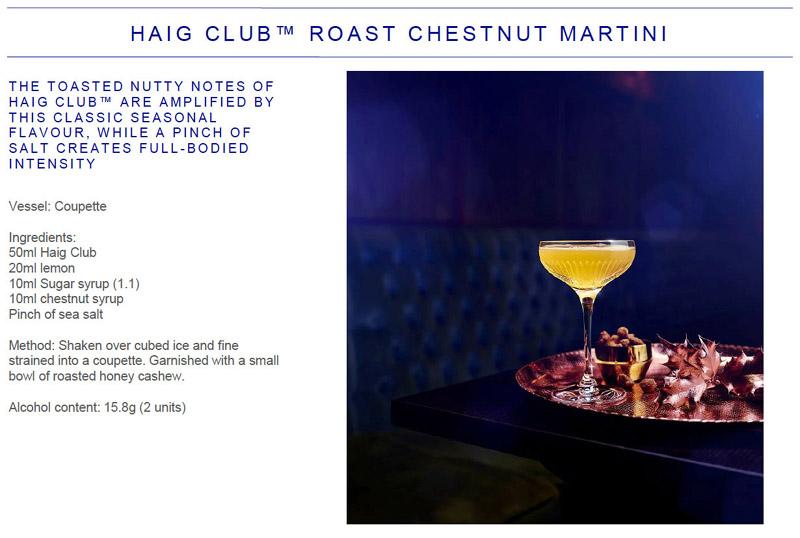 Roast Chestnut Martini