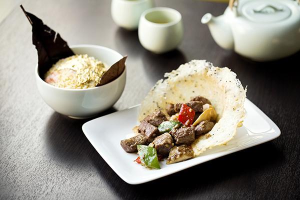 Foie Gras diced beef at Yauatcha City