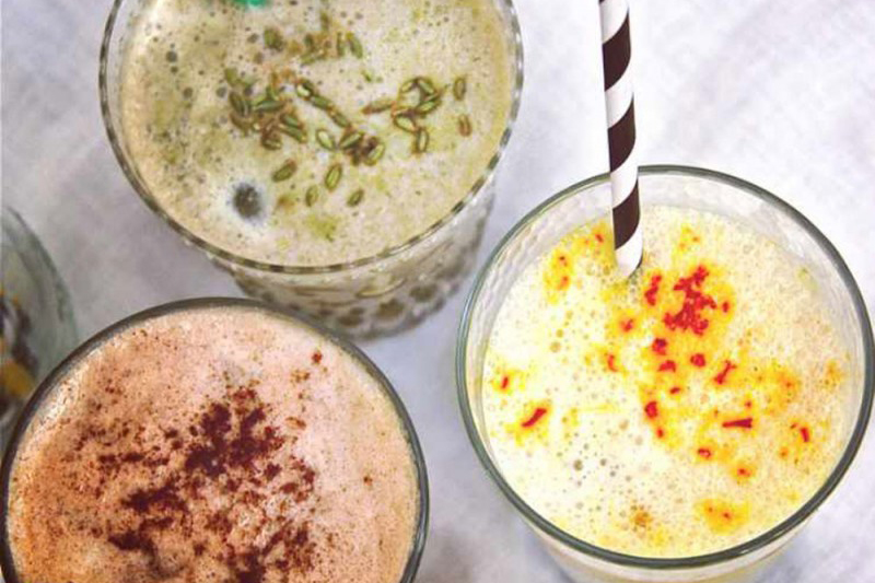 Spiced ice latte recipes by Mira Manek fti