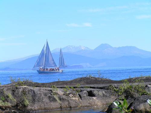 Featured medium photo of Maori Rock Carvings, Mine Bay. Lake Taupo on TripHappy's travel guide