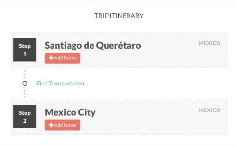 Add notes to your trip on TripHappy