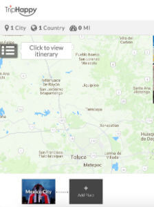 View your trip's itinerary on TripHappy
