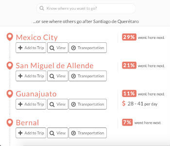 Add your next stop via our suggestion page on TripHappy