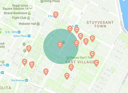 East Village Neighborhood Filtering