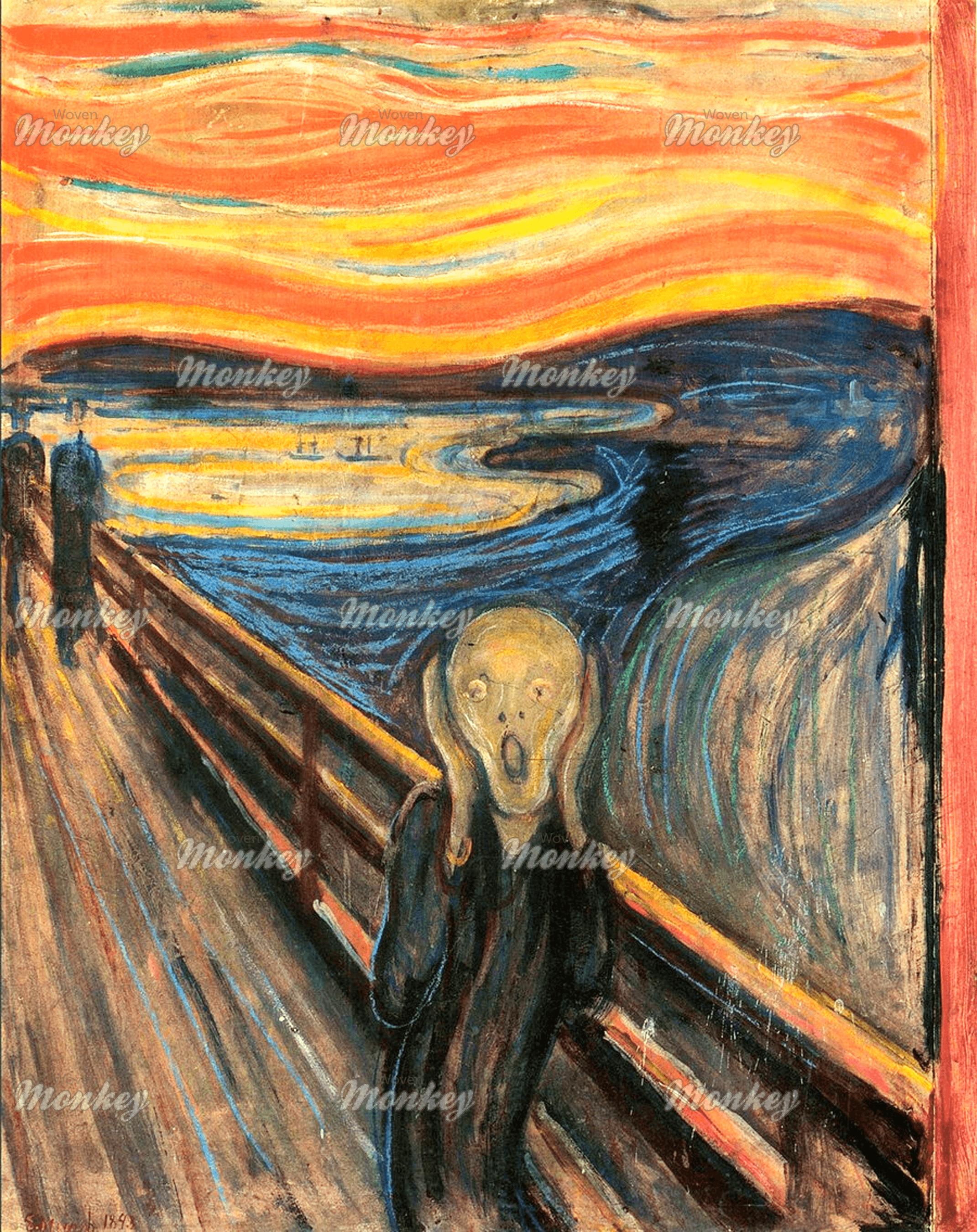Edvard Munch - The Scream, 1893 | Fabric | Woven Monkey