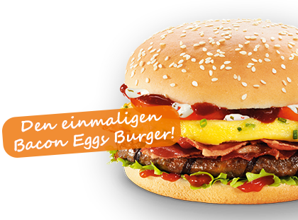 Aktionsburger burgerme Bacon Eggs Burger