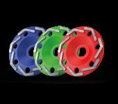 Boomerang cup wheel