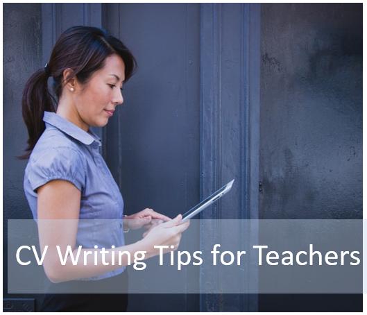 cv writing tips for teachers