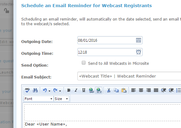 Schedule Email Reminders with StreamAMG