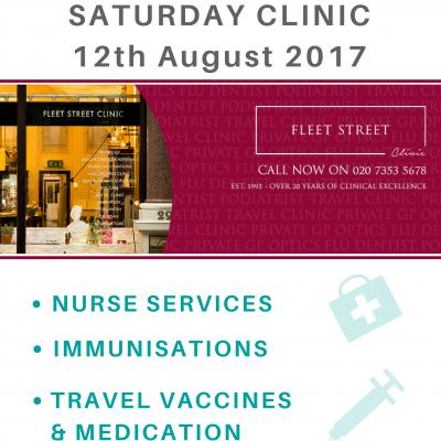 Saturday Clinic at Fleet Street Clinic 12 August