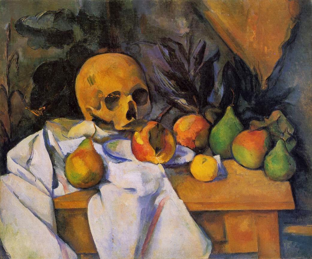 Paul Cezanne Nature morte au crane