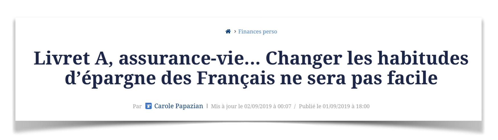 Changer les habitudes d'investissement des francais