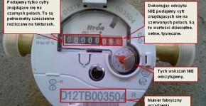 Informacja o tym jak odczytać wskazanie wodomierza Itron bez modułu