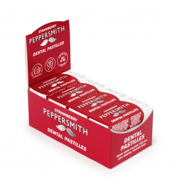 100% Xylitol Strawberry Pastilles from Peppersmith