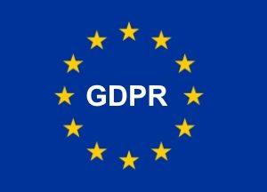 GDPR letters Set in European Flag