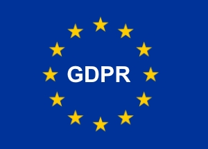 GDPR letters Set in European Flag