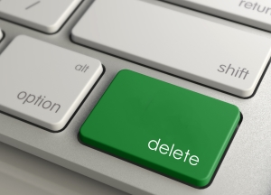 Green Delete Button on Mac Keyboard
