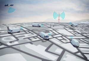 GPS Vehicle tracking of a van fleet