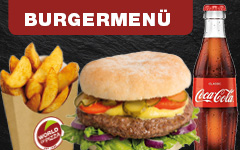 Bestell Dir ein Burgermenü bei WORLD OF PIZZA und spare bis zu 15%