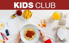 Bestell ein leckeres Kids Club Menü bei WORLD OF PIZZA
