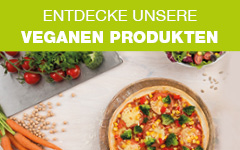 Bestell leckere vegane Produkte bei WORLD OF PIZZA